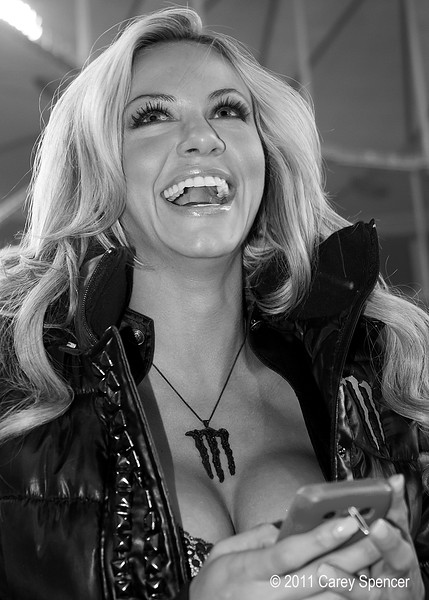 Wonderful Monster Energy Girl Laugh at AMA SX event.