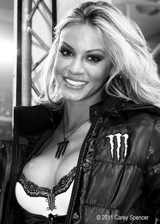 Lovely Monster Energy Girl Smile during AMA Supercross Event
