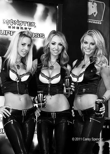 Monster Energy Girls on Podium Atlanta.