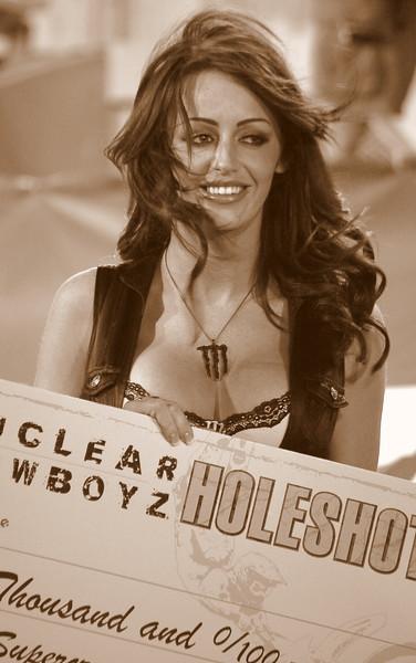 Monster Energy Girl Holeshot Check at Sam Boyd Stadium Las Vegas