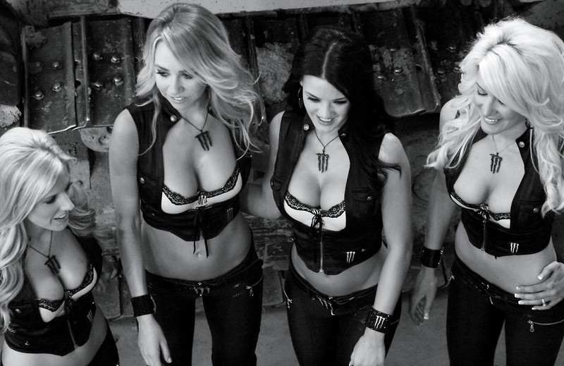 AMA Monster Energy Girls Before Race Start Cowboys Stadium