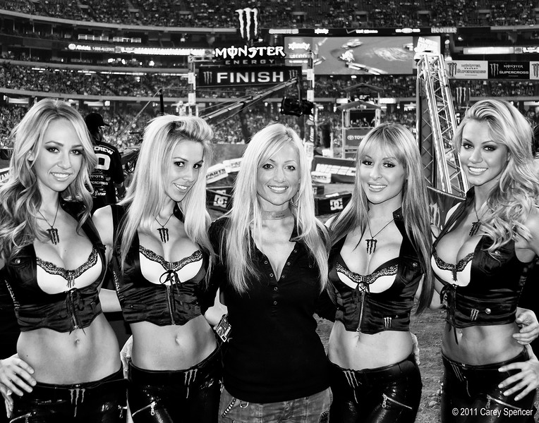 Monster Energy Girls at the Georgia Dome 2011 AMA Supercross event.