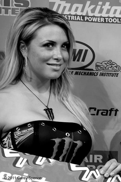 AMA Supercross Monster Energy Drink Girl Atlanta Medic Card Podium Moment