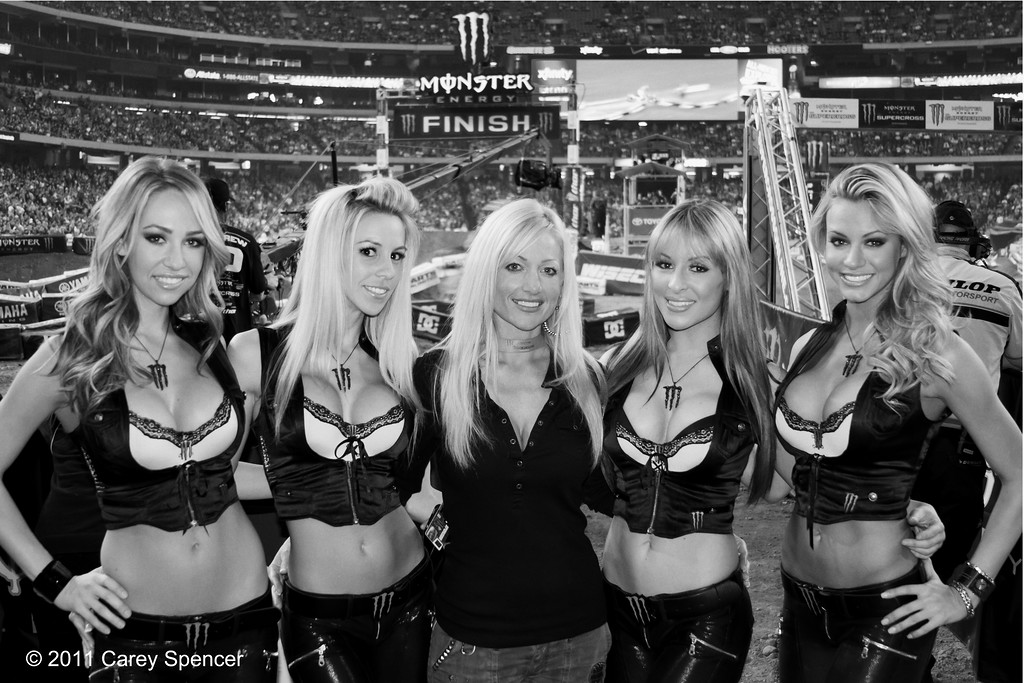 Beautiful AMA Supercross Monster Energy Drink Girls Atlanta