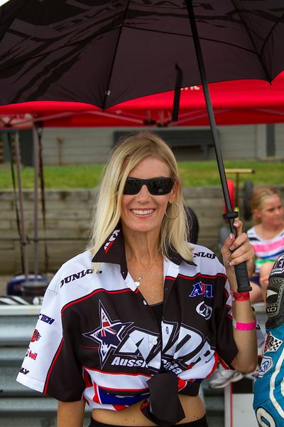 Aussie Blonde Umbrella Girl Mid Ohio