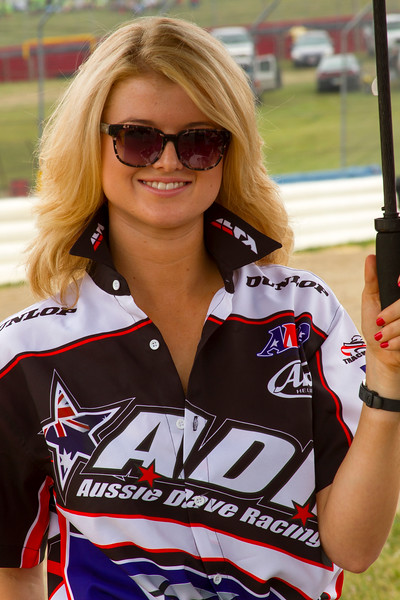 Aussie Dave Racing Umbrella Girl Buckeye Weekend