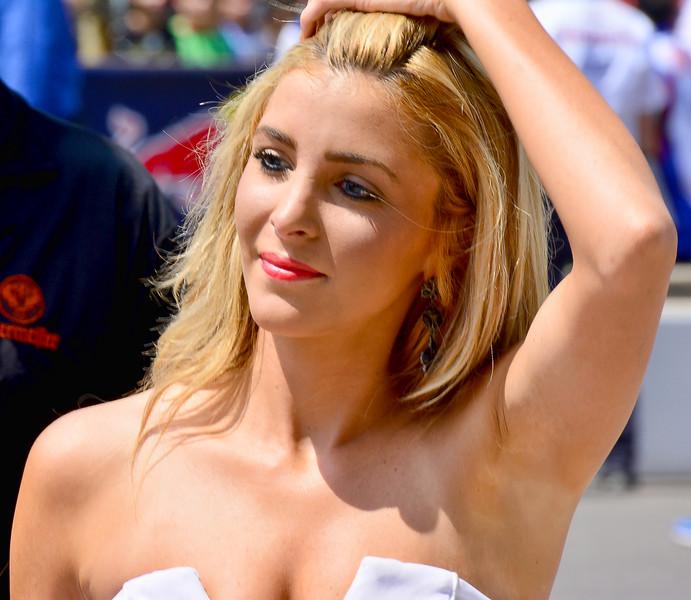 Lovely MotoGP Ducati Umbrella Girl Departs Grid RedBull GP Indy