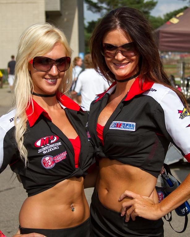 M4 Broaster Chicken Suzuki Umbrella Girls all Smiles after Westby's Victory Mid Ohio