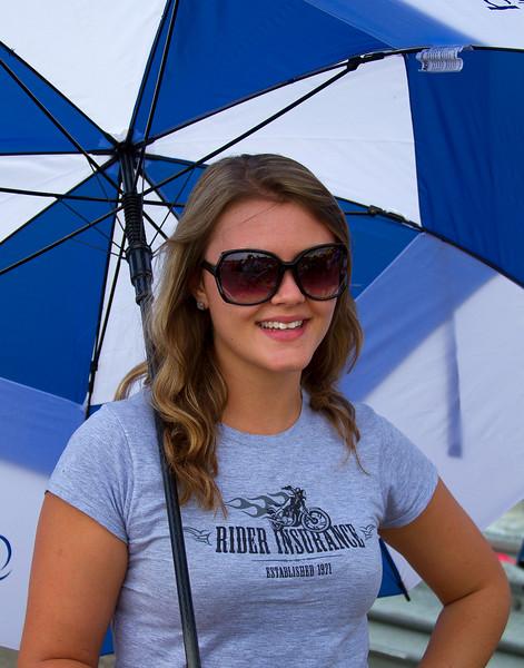 Rider Insurance Umbrella Girl