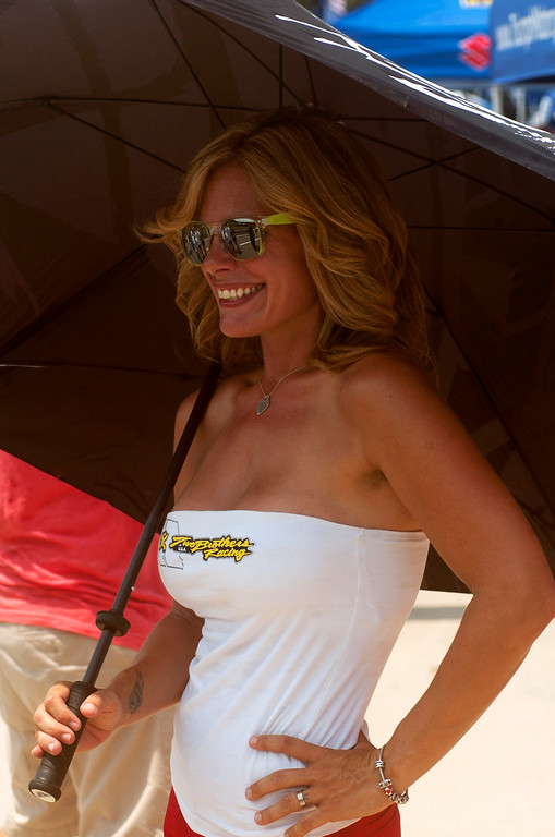 Two Brothers Racing AMA Umbrella Girl