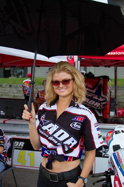 Aussie Dave Racing Umbrella Girl Mid Ohio