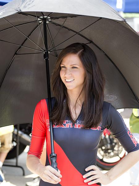 NextMoto Champion Umbrella Girl Fan Walk