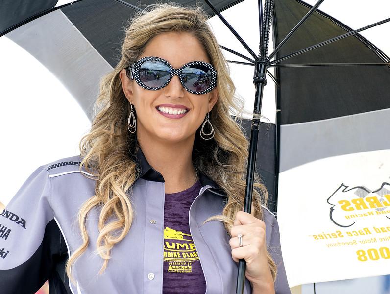 Gonzales Motorsports Heroic Racing Umbrella Girl