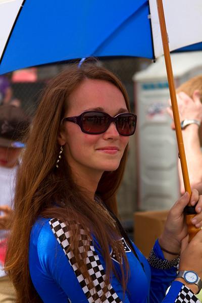 Beuatiful Lady in Blue Umbrella Girl Mid Ohio