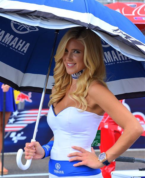 Factory Yamaha Racing MotoGP Umbrella Girl RedBull Indy GP