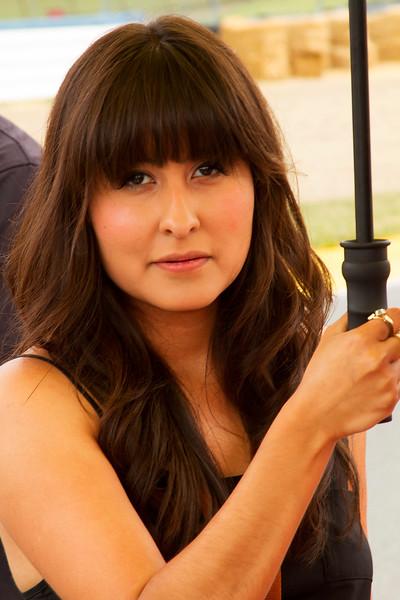 Meen Motorsports umbrella girl