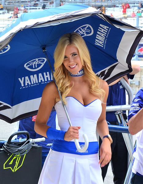 MotoGP Yamaha Factory Yamaha Umbrella Girl Indy RedBull GP