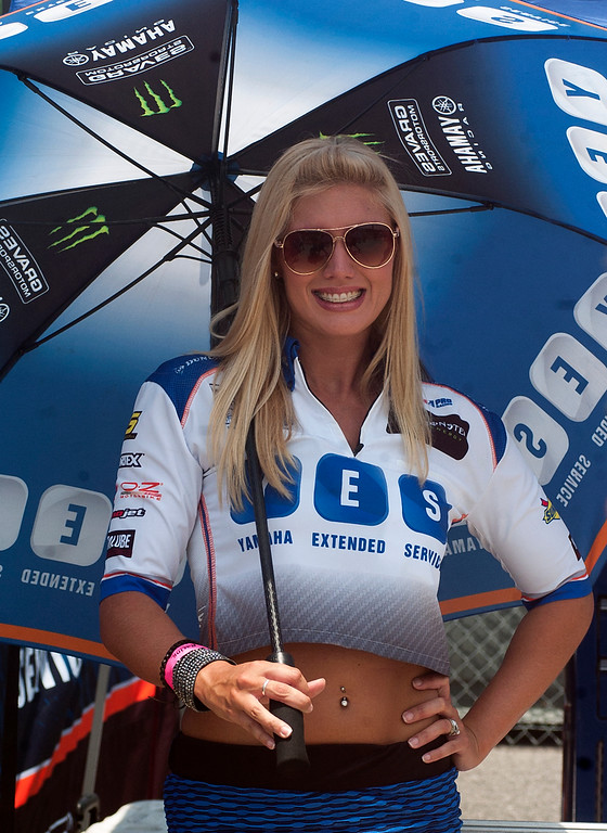 Yamaha AMA Racing yes umbrella girl