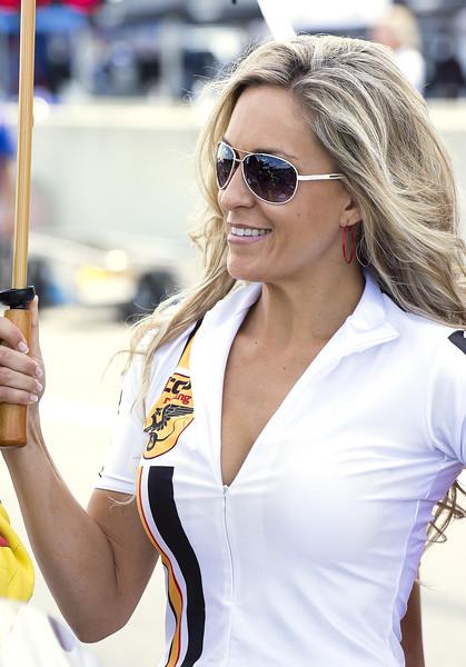 TOBC Racing Umbrella Girl on Grid Barber