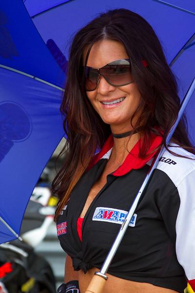 M4 Broaster Chicken Umbrella Girl