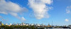 Miami downtown skyline panoramic view Florida