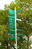 Paradise sign signal post in New York Battery Park