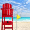 Baywatch red seat yellow wind flag tropical caribbean