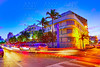 Miami South Beach sunset Ocean Drive Florida