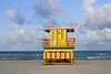 Lifeguard houses in Miami Beach