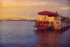 Steamboat in Jacksonville Florida USA at sunset