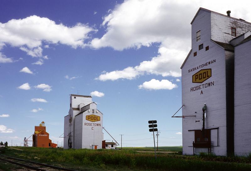 Grain elevators on the prairies