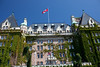 The historic Empress Hotel in Victoria on  Vancouver Island, British Columbia, Canada