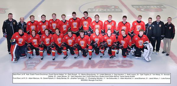 AMHL Flames Team Photo - FD Bauer Arena
