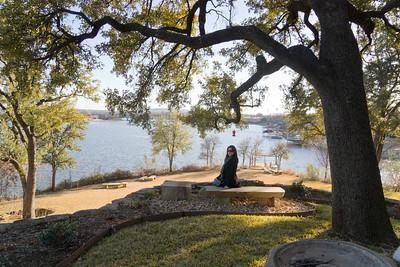 "The ""back yard"" at the Lake House."