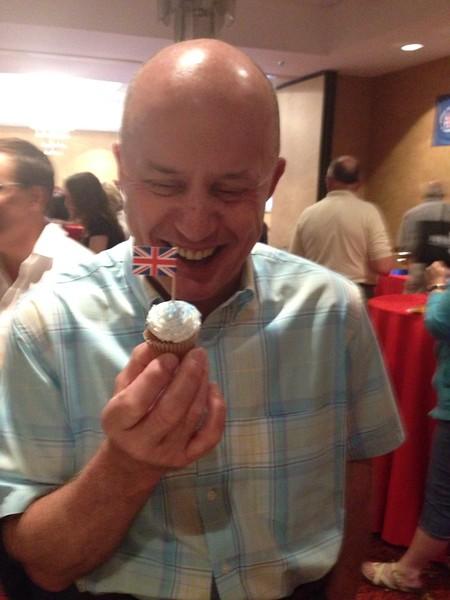 Tony's birthday cupcake