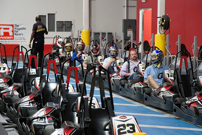 Getting ready for the practice laps at K1 Speed