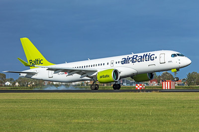 Air Baltic Airbus A220-300 YL-CSN 9-3-19 2