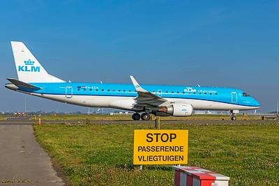 KLM Cityhopper Embraer ERJ-190-100STD PH-EZN 10-9-21