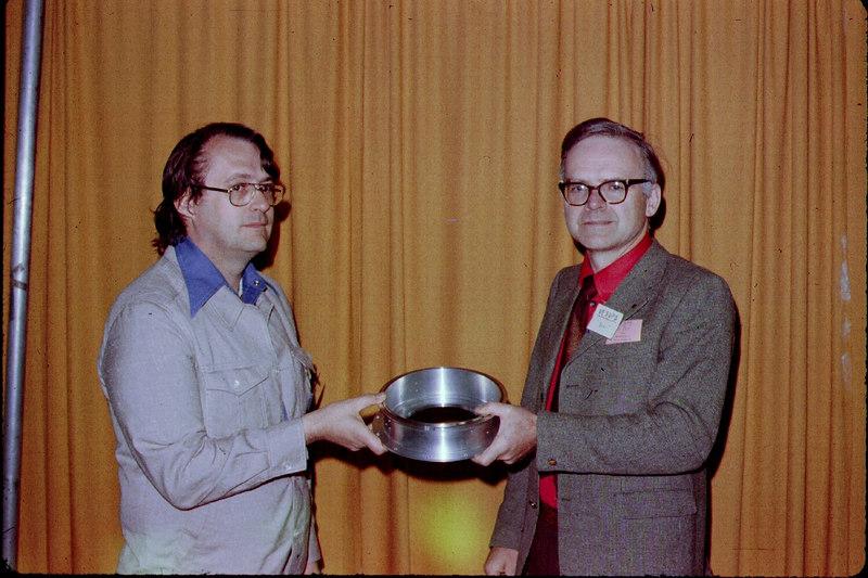 Clark accepts a ring from VE3DPB, Bert.  ;-)