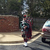 The bagpipes were a moving part of the service