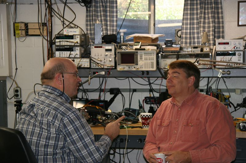 Bob, N4HY, and Rick, W2GPS (AMSAT-NA President) in their favorite pastime: arguing!