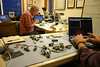 Chuck Green.  IHU-3, microscope, and soldering iron near by.  What else is new?  Stephen working on his Can bus test code.