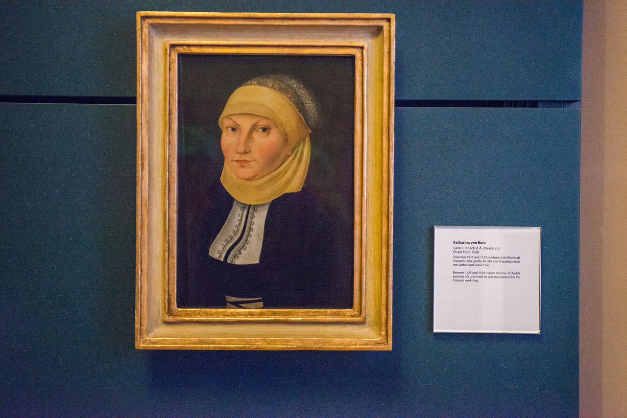 Portrait of Katharina von Bora by Lucas Cranach, 1528.