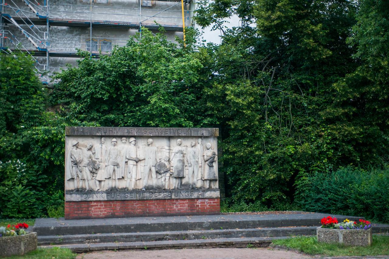 Torgau war memorial.