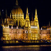 Parliament Building, Budapest, Hungary.  Built in the Neo-Gothic style and completed in 1904 on the design by Imre Steindl. It features 691 rooms, is 268 meters long and its dome is 96 meters high.
