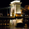 The Chain Bridge, the first to connect Buda and Pest was opened in 1849.  The two piers are 48 meters high.