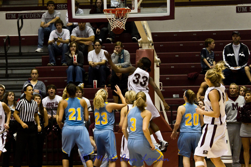 Tianna Ware in the air after laying this one in.