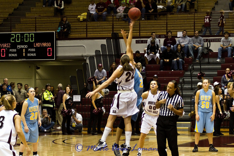 Katie Baker at tip-off