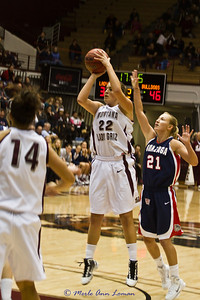 Katie taking an open shot.