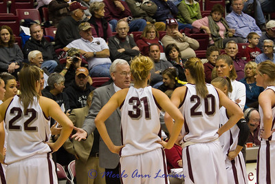 Robin coaching the girls in a time out.
